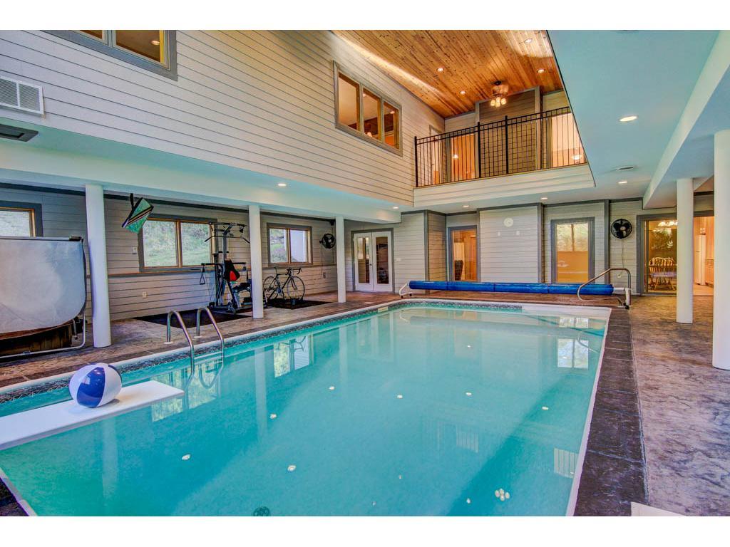 Low maintenance Saltwater indoor heated  pool.