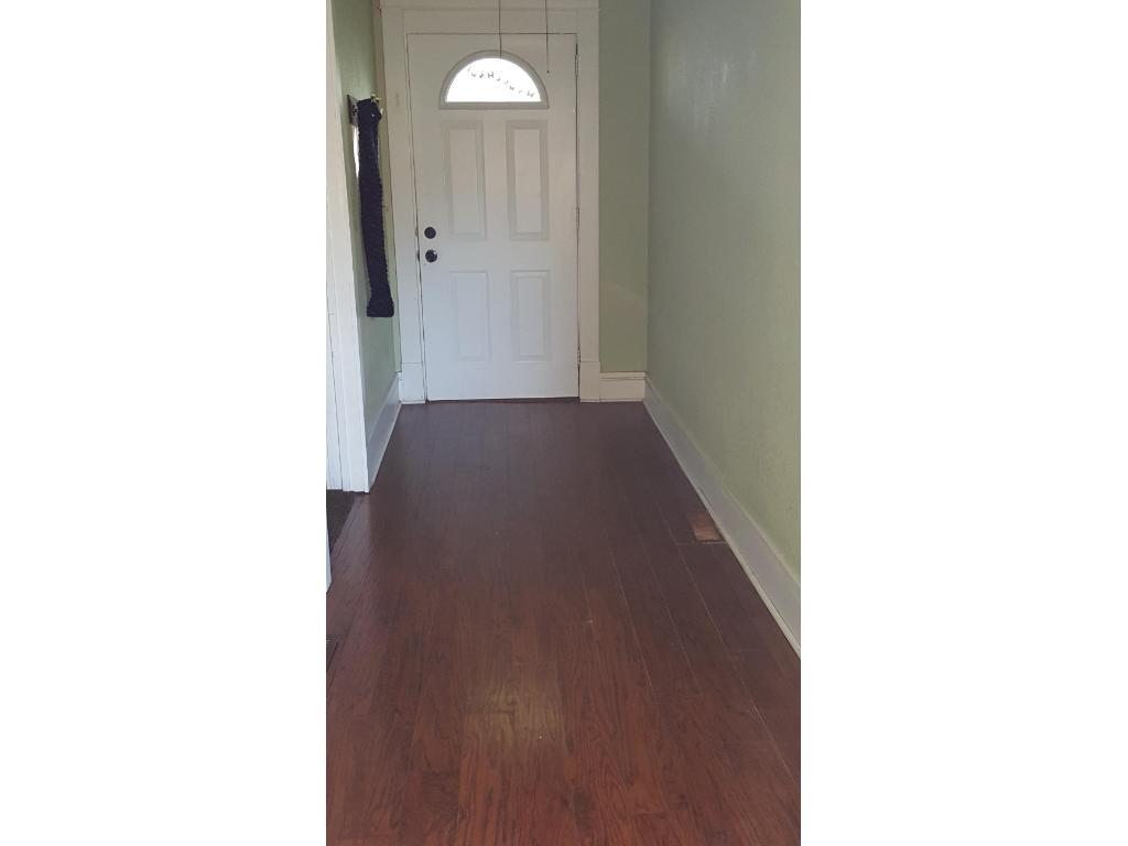 Laminate flooring on the main level.