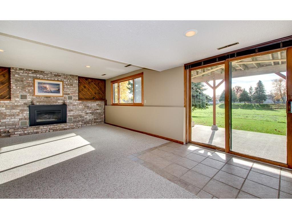 Family room walks out to concrete patio and private back yard space.