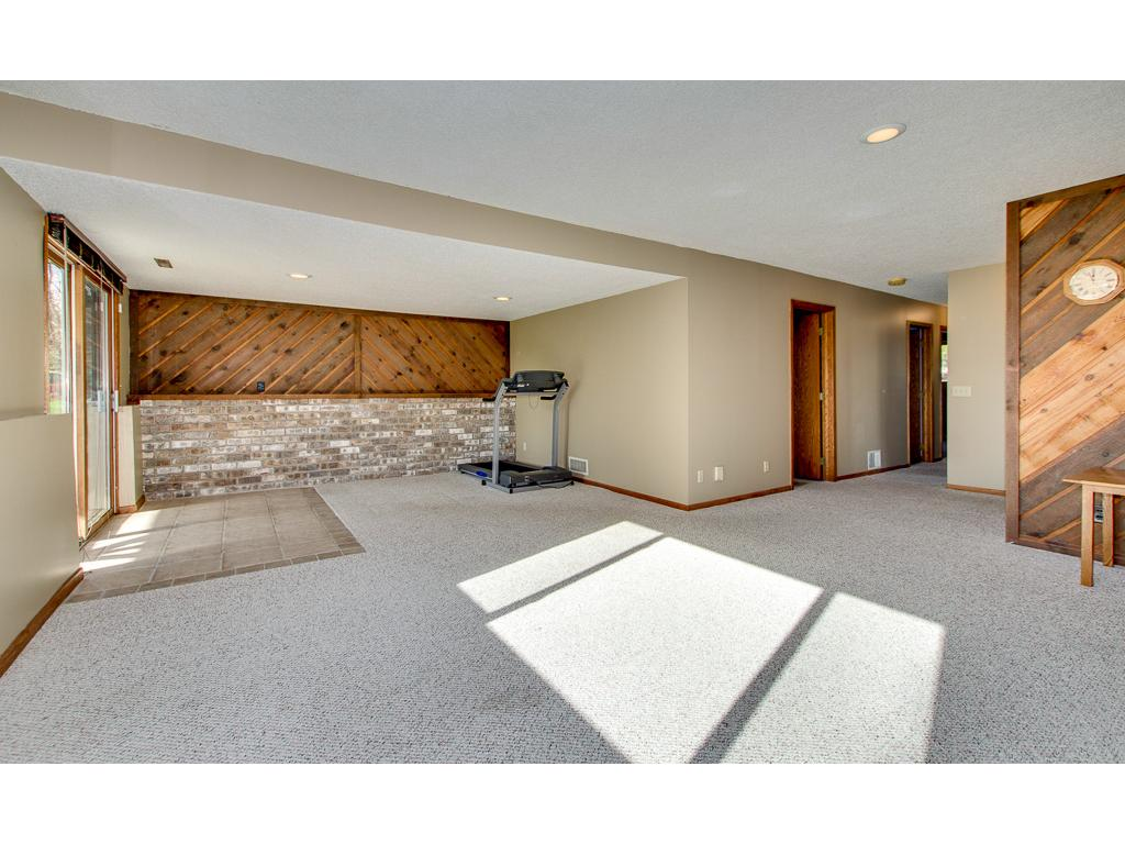 Extra large family room has space for all your needs.