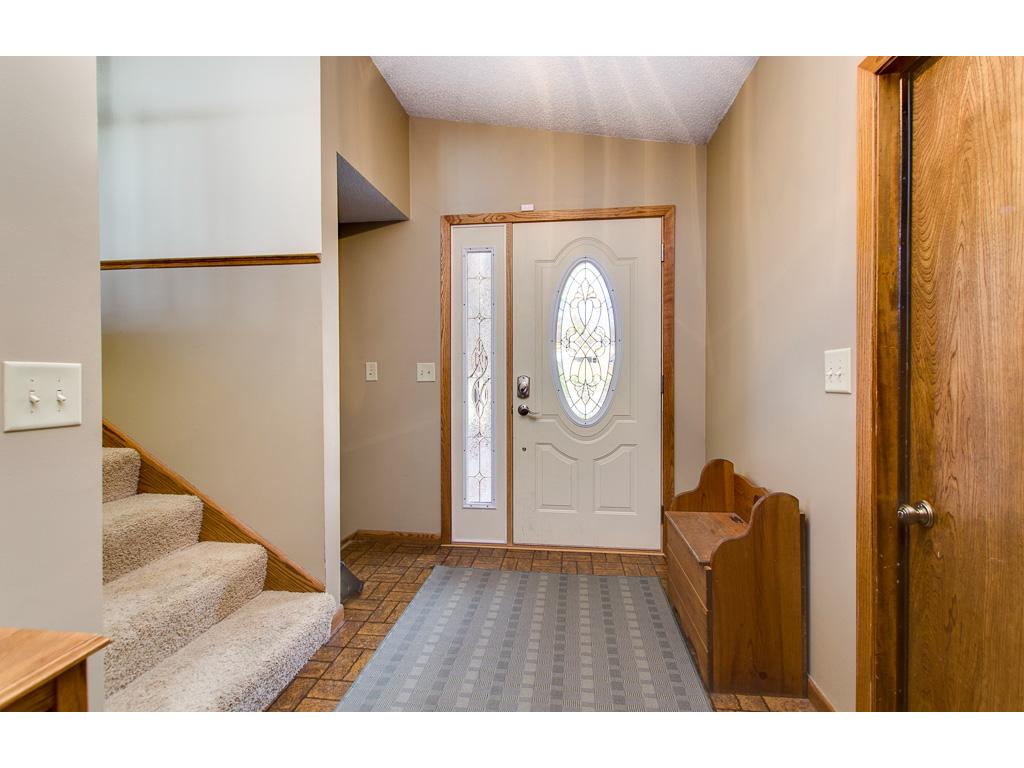 Foyer with large entry closet