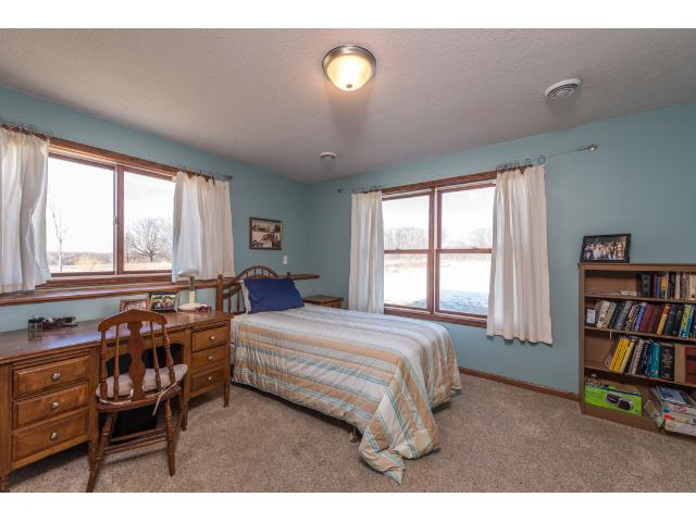 2nd Lower Level bedroom with views of the back yard and lands owned by state/city. Also has a 5x7 walk in closet