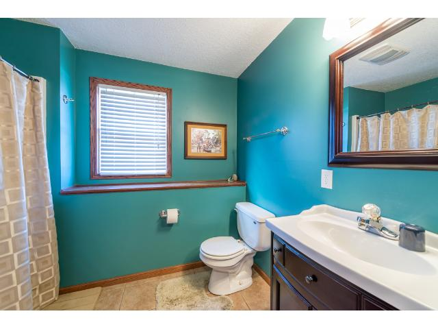 lower level 3/4 bath with walk in shower.
