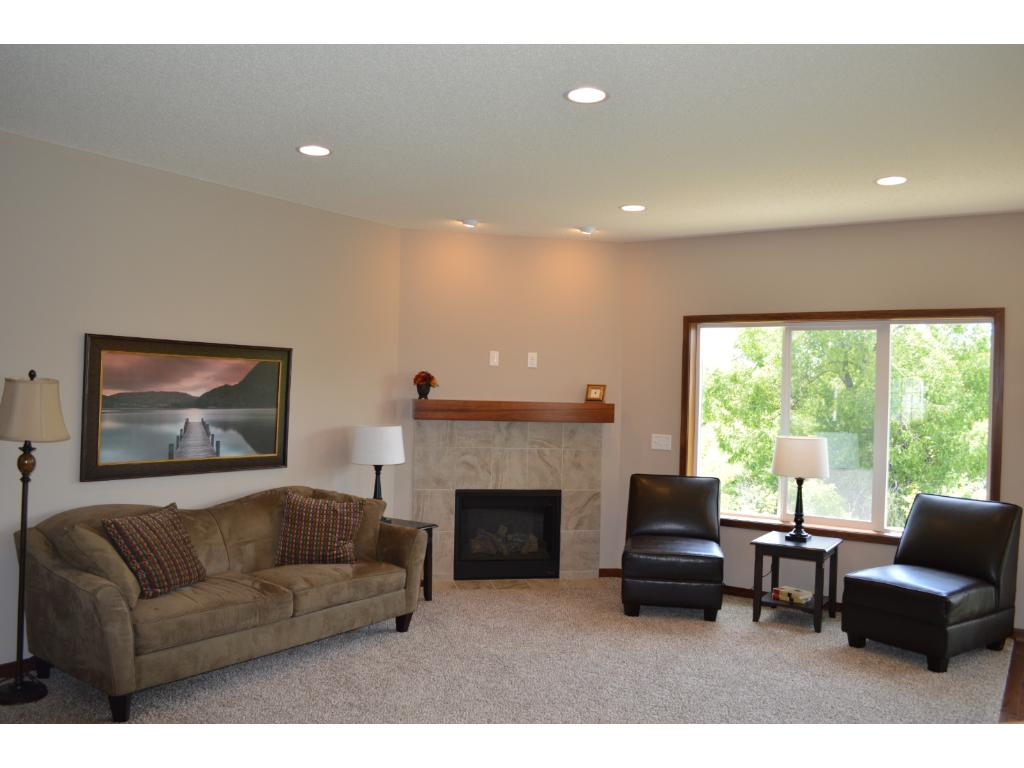 Open living room with large picture window.