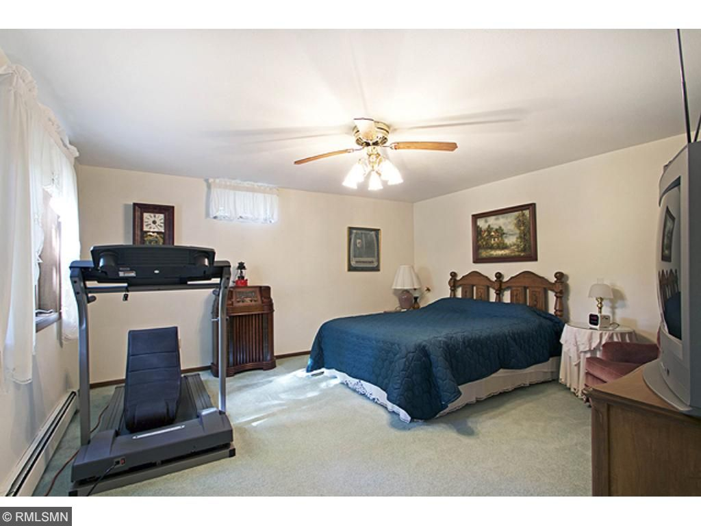 Lower level, large bedroom with walk-in closet.