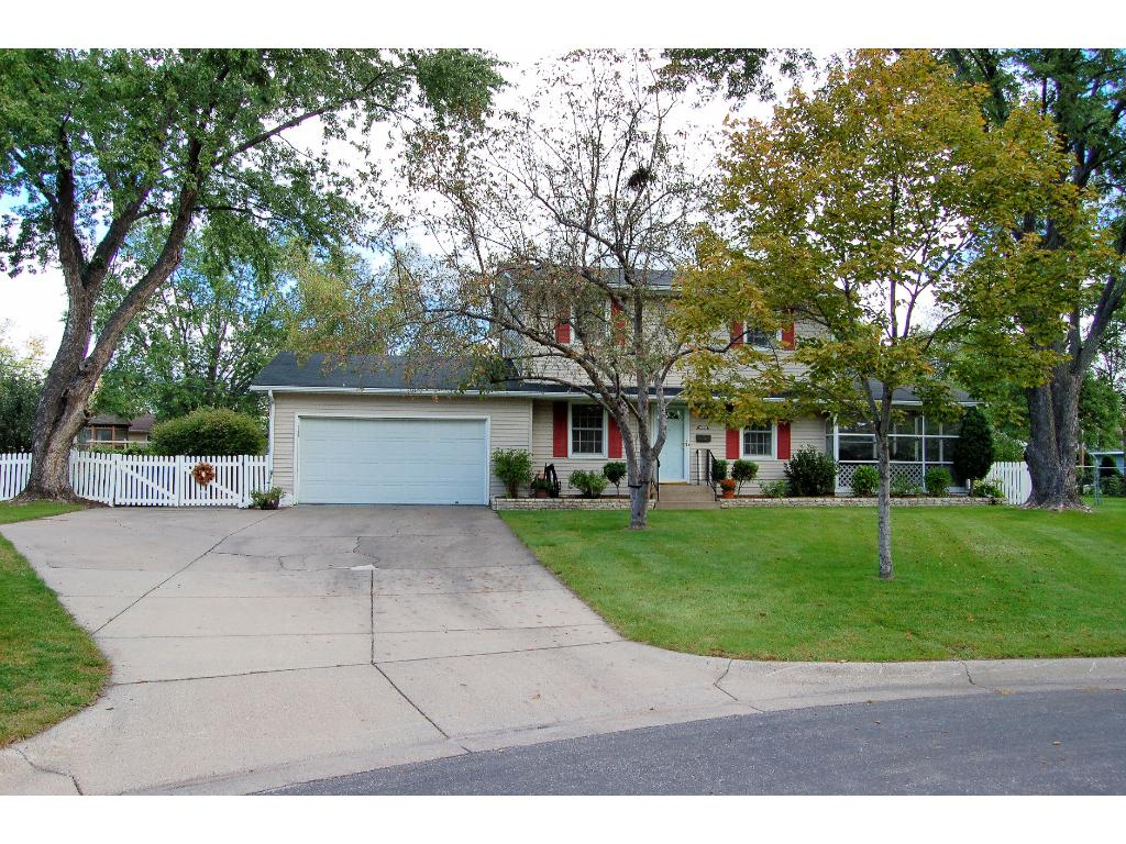 Cul de sac location with fenced lot.3rd stall garage is behind the heated double garage.