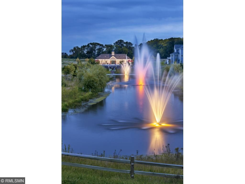 Fountains light up at night