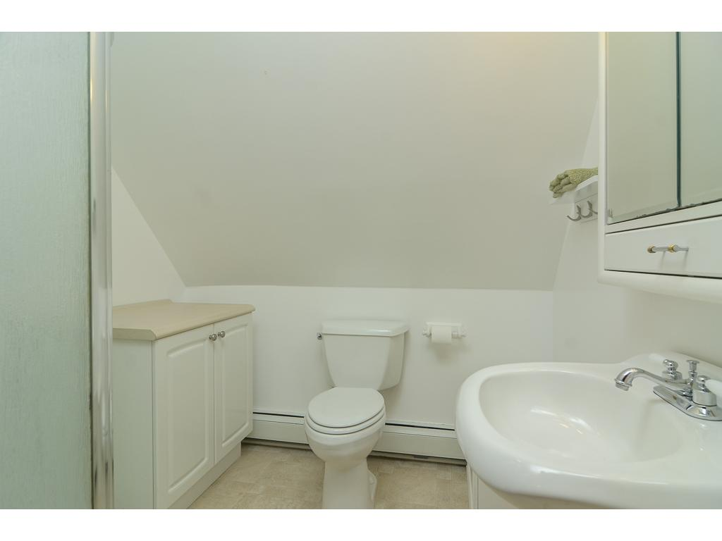 The bathroom with shower make the upper level the perfect master suite. Use one room for a bedroom, another as a closet and a private bathroom. Perfect!