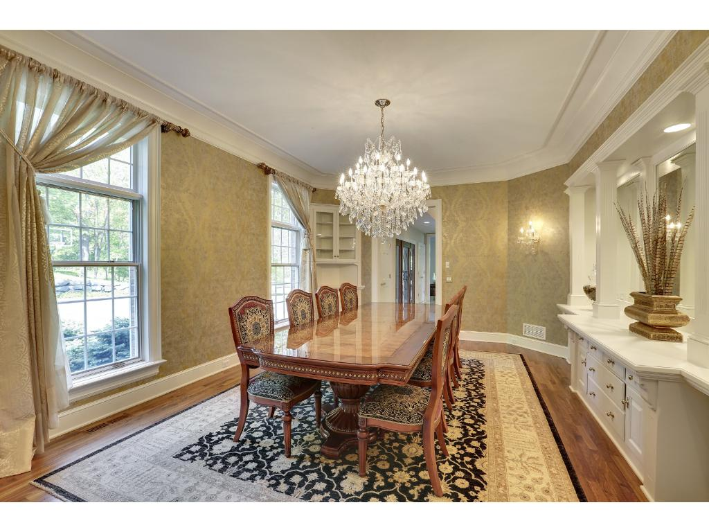 Beautiful built-in sideboard in the formal dining room.