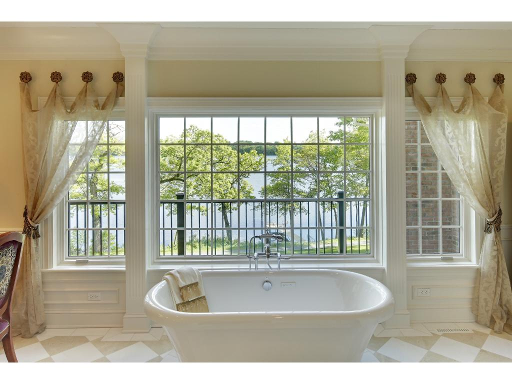 One of the two master baths in the exceptional master suite.