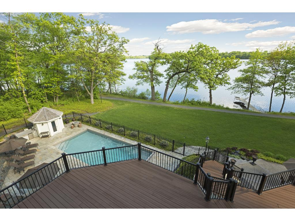 Photo taken from Master suite, wake up to this beautiful view and end your night sitting on your private master suite deck!  8 Ironwood sits on 1.34 acres, and every view of this property is incredible!