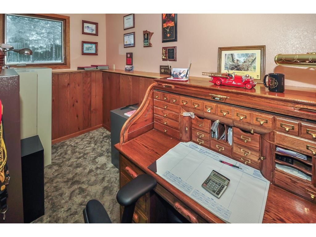 Just off the lower level family room is this convenient space currently used as an office.