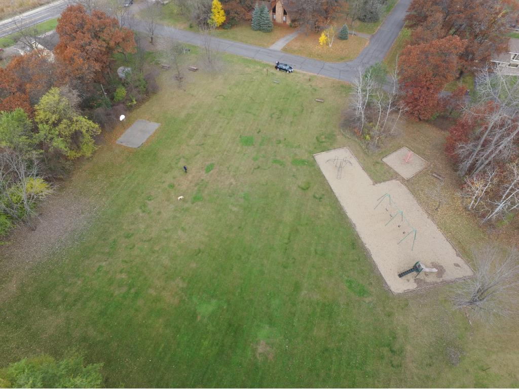Here is a neat aerial of the park located just off the back of the property.