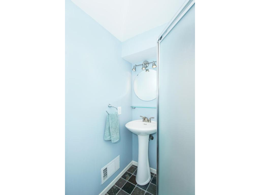 Lower level has a great 3/4 bathroom and bedroom!