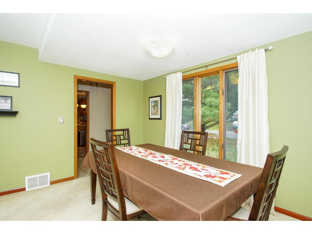 Dining room is open to the new kitchen addition and the large family room.