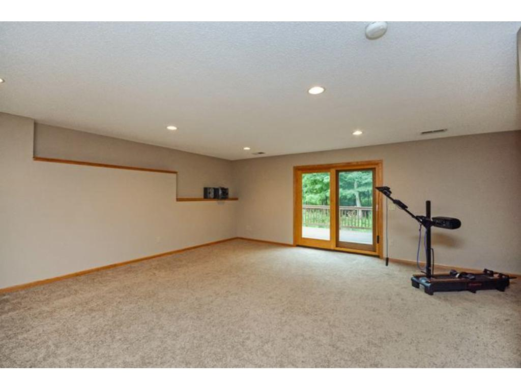 Huge lower level family room walks out to the lower level deck and backyard.  There is an abundance of space here!