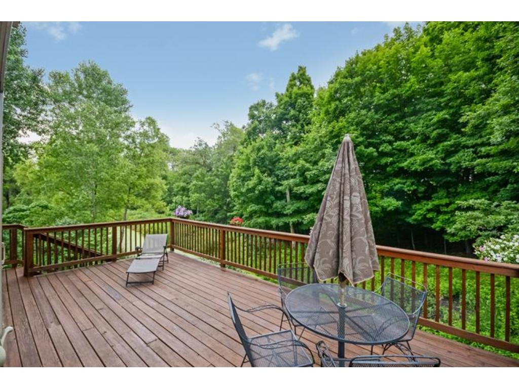 The gorgeous upper level deck is the perfect spot for a BBQ or entertaining.  Plenty of room for a large crowd!