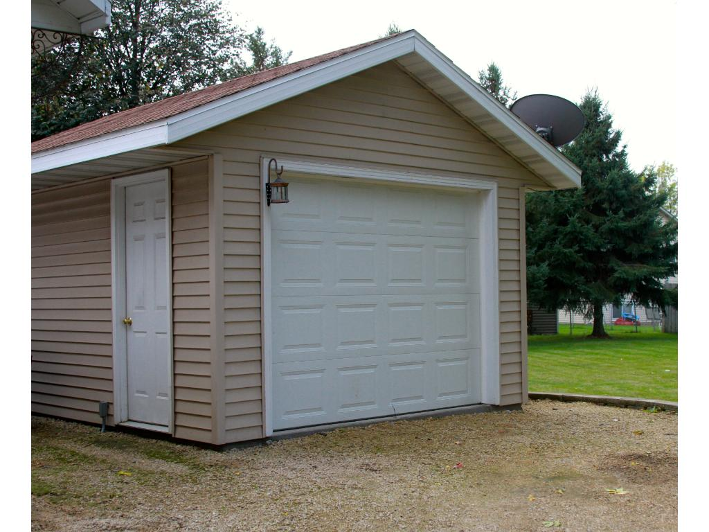 Detached 3rd car garage is insulated, heated, sheet rocked and has electrical and cable