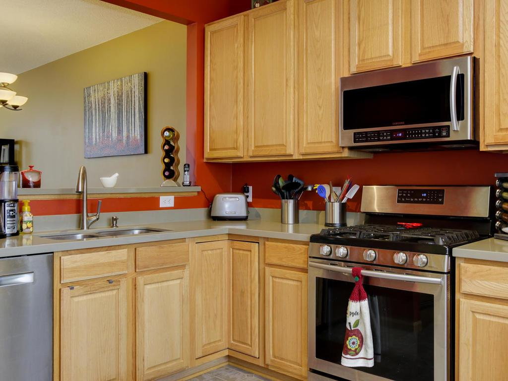Kitchen opens to dining/living offering open concept plan