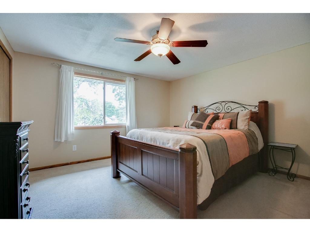 Master bedroom with large closet.