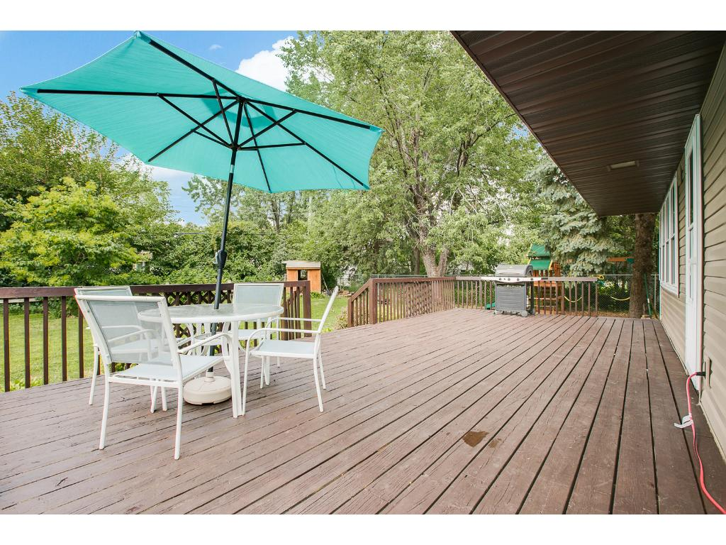 Huge backyard deck is great for entertaining!