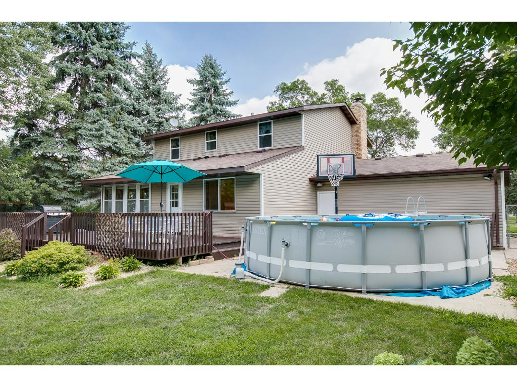 The above ground pool is negotiable with the sale of the home, and a perfect addition to this private backyard.
