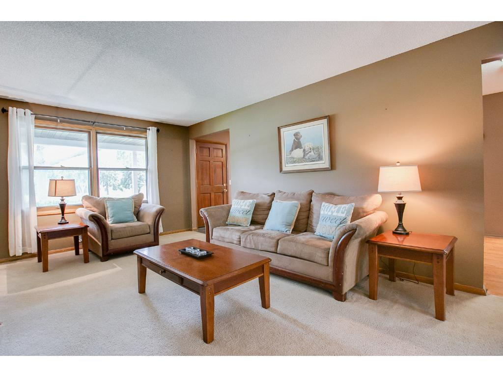 The family room on the main level is filled with natural light.
