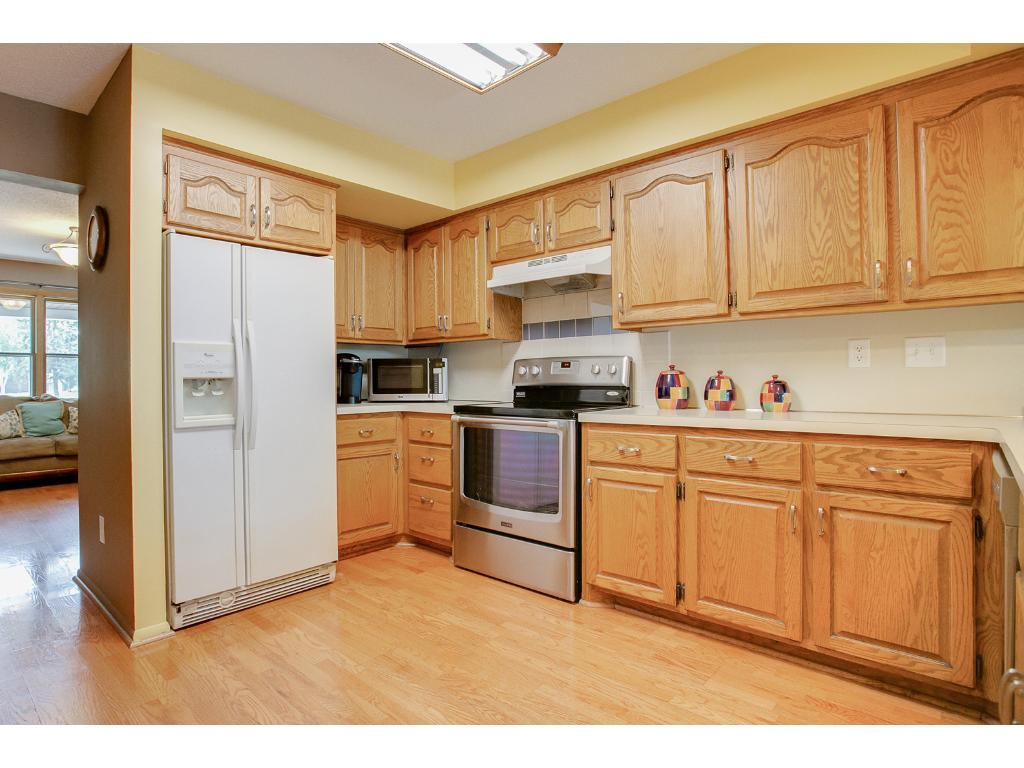 Plenty of cabinet space and a built-in pantry cabinet will allow for substantial storage!