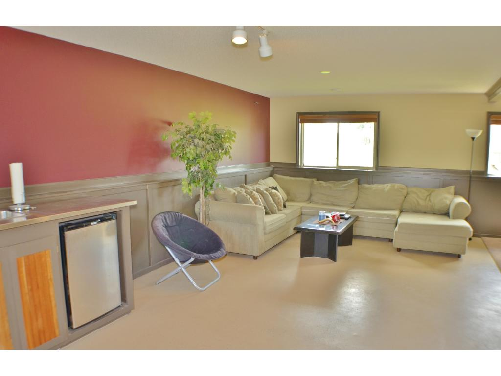 Open concept in the lower level family room!