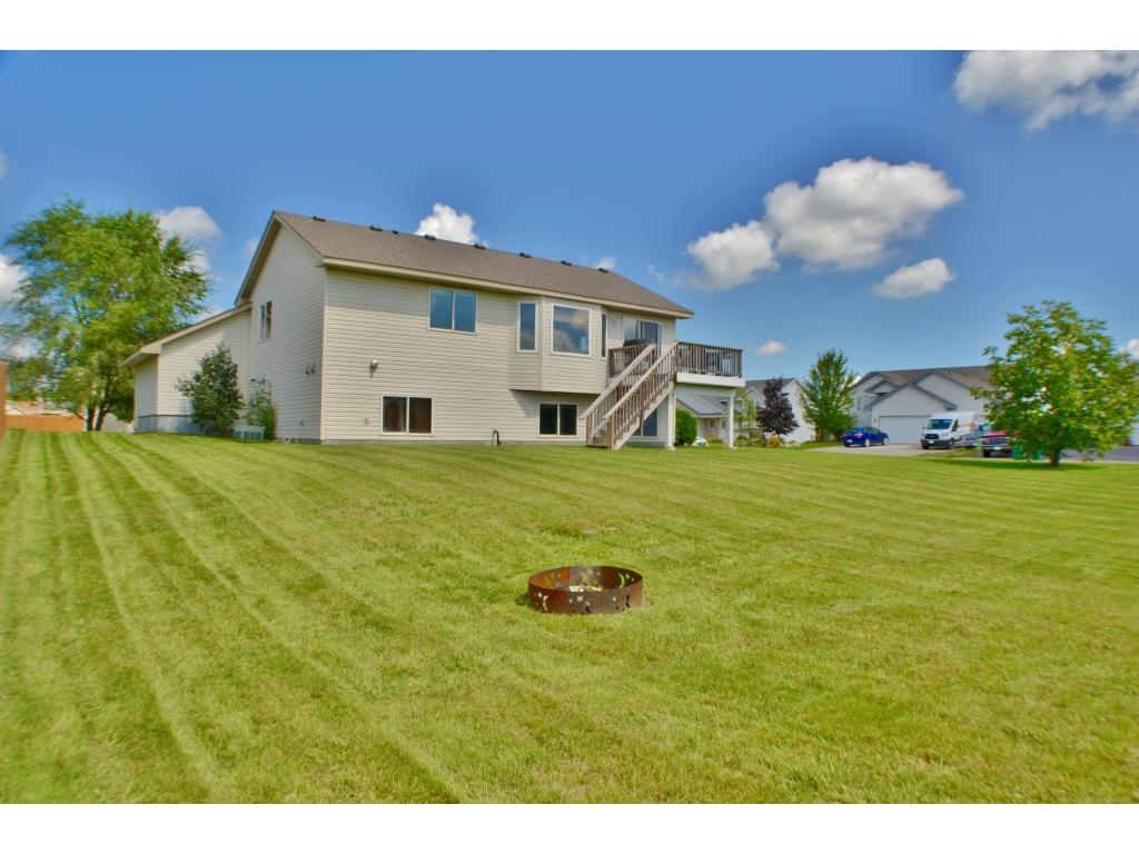This expansive backyard has room to run, play, and tire a person out!