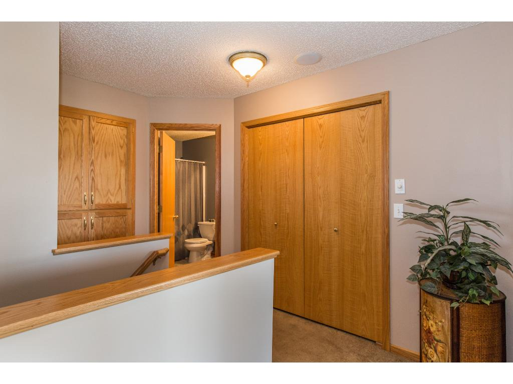 Upper level has laundry, two full bathrooms and built-in storage!