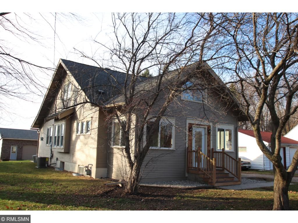 Newly updated in the heart of Cokato.  1/2 acre plus lot in town with no back yard neighbors. Fresh paint and siding, new front door and steps for great curb appeal.