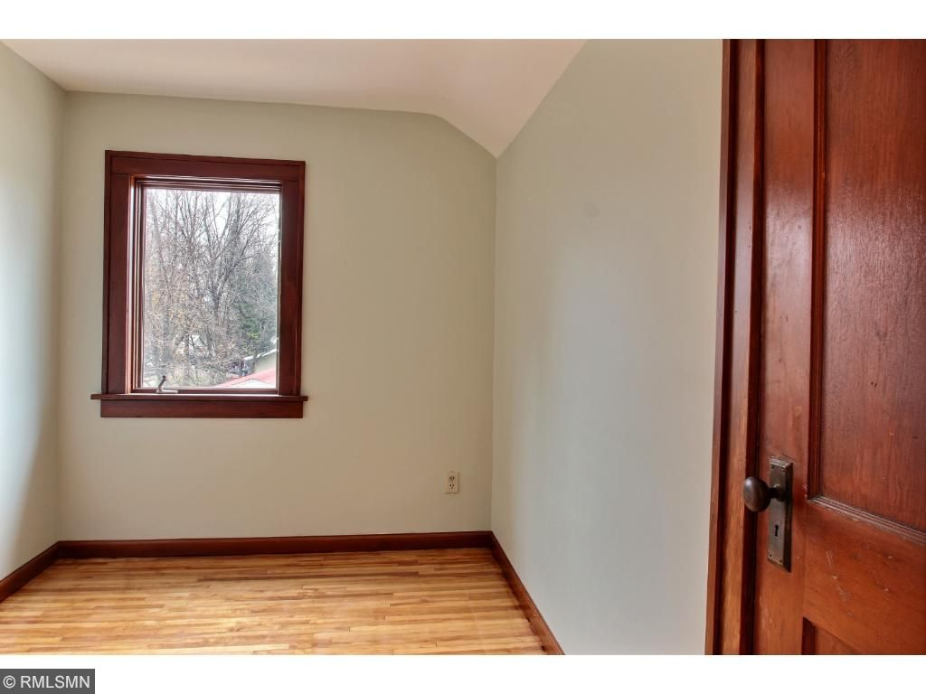 The 2nd bedroom is smaller, but has a very nice sized closet.  Would make a great quest room, study or room for a baby or child!