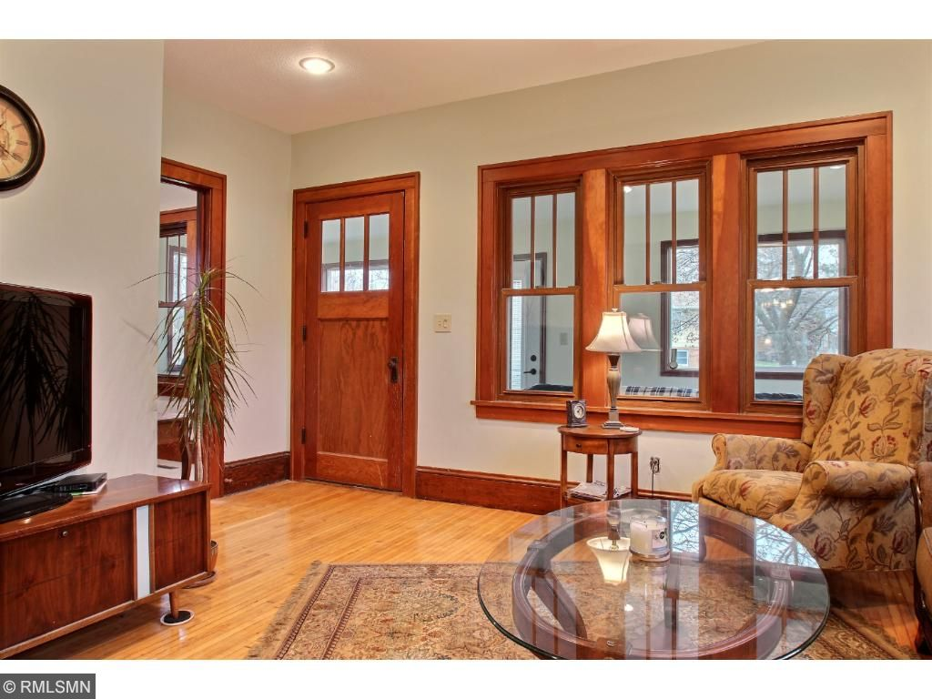 This house has exquisite wood work through out.  Beautiful windows and doors, with original trim work