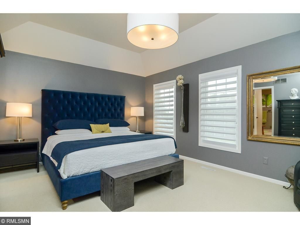 Dramatic, stylish and spacious second master bedroom in the upper level