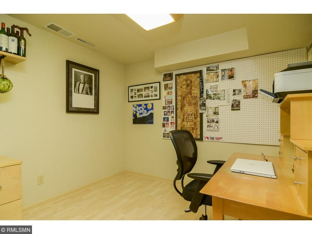 The owners have used the lower level bonus room as an office