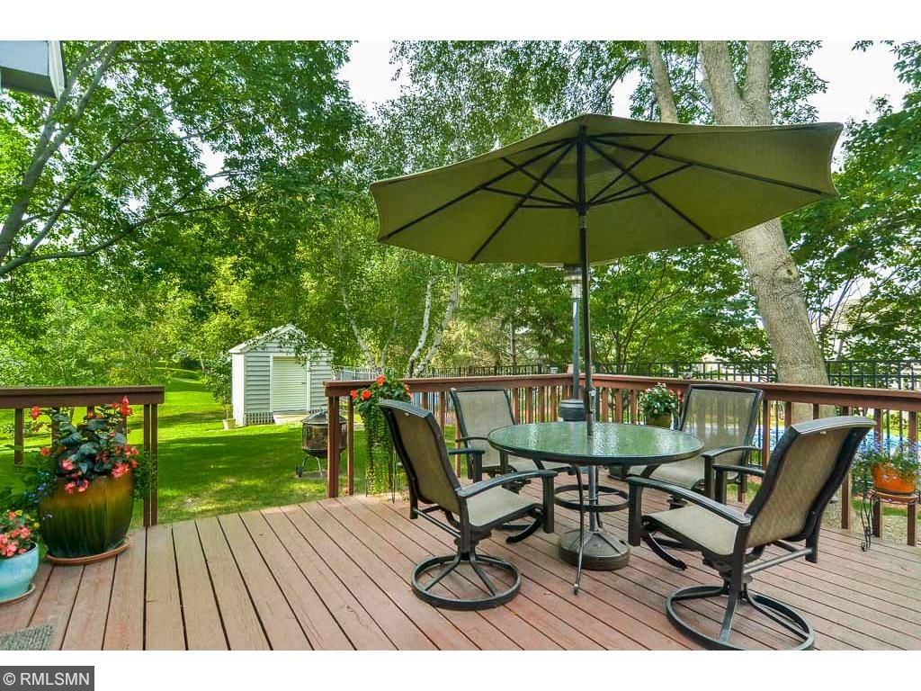 Many summer days and evenings will be spent on this deck, just off the kitchen eating area