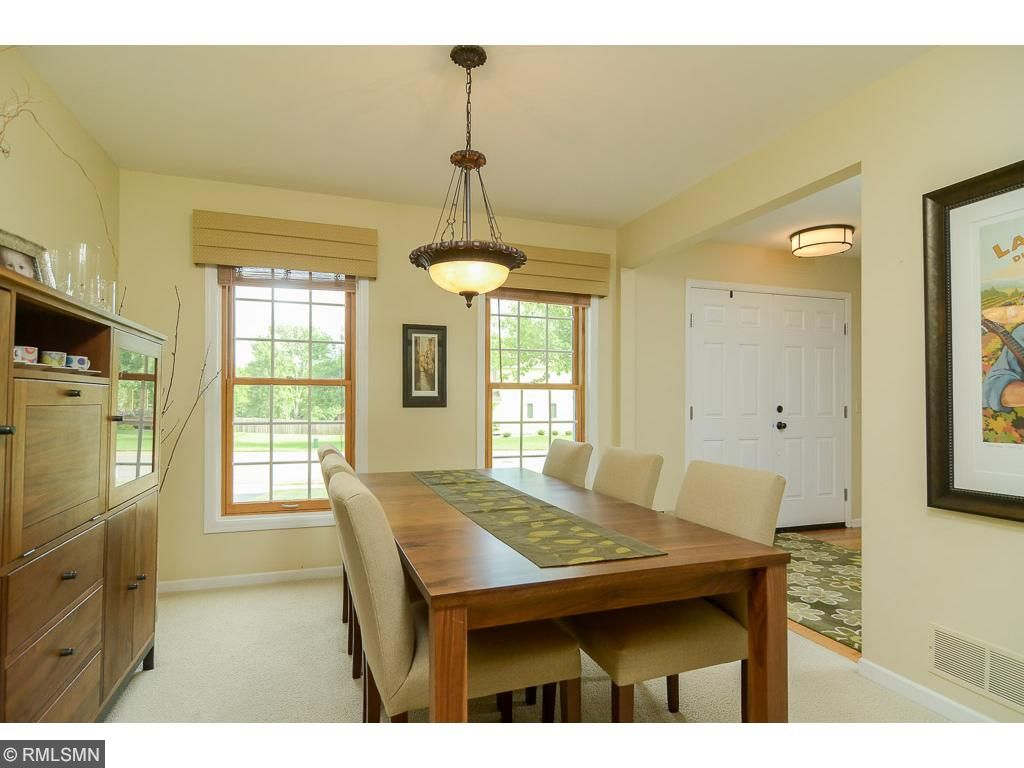 Enjoy this formal dining area just steps from the kitchen