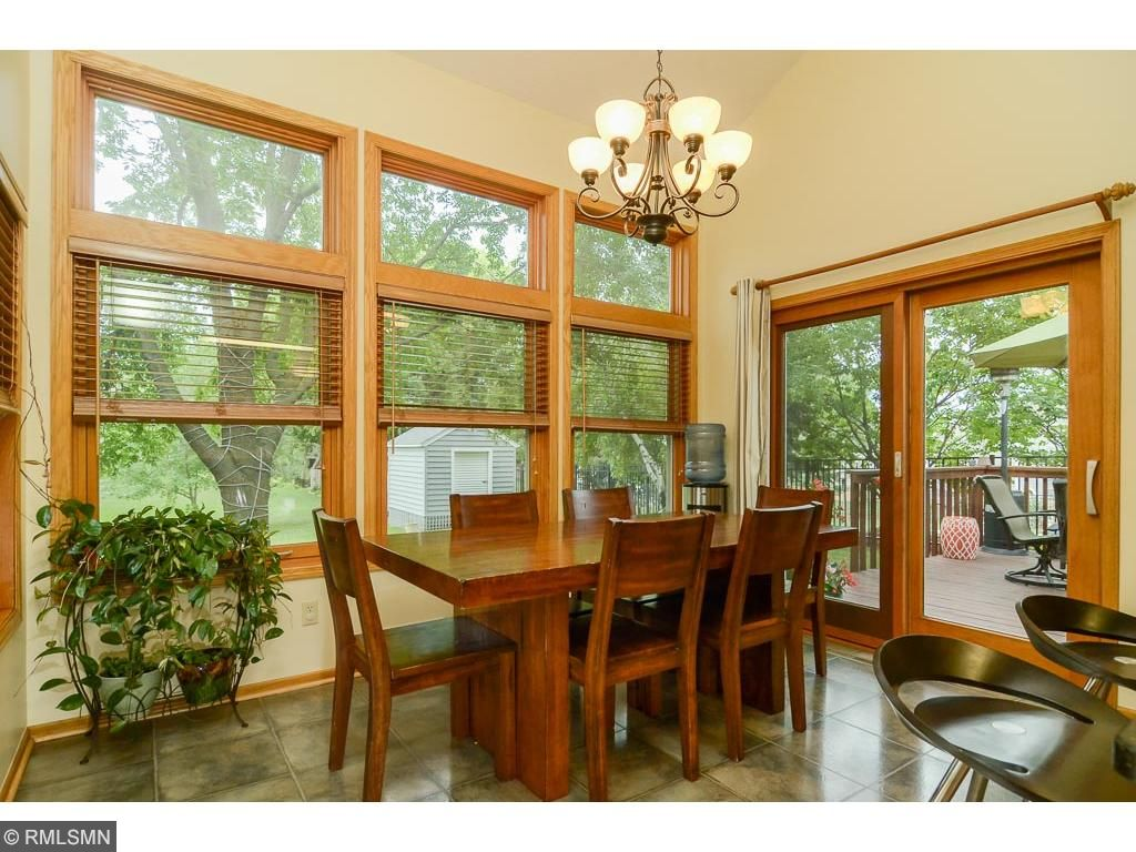 A bonus to this home is the eating area with transom windows, overlooking the backyard