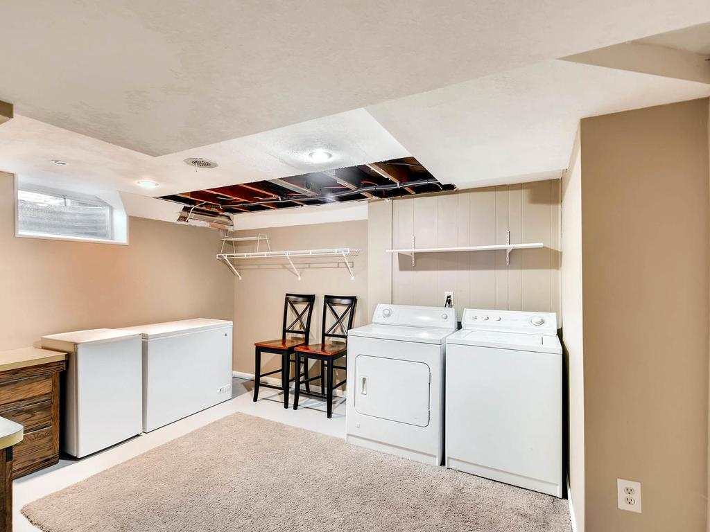 Large Laundry Room with plenty of extra storage space