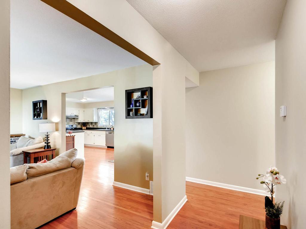 Wonderful floor plan- open at the front entryway