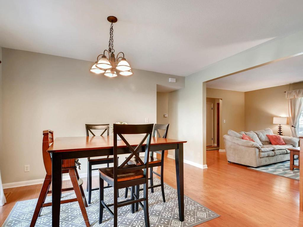 An open concept in the main living areas of this home is ideal