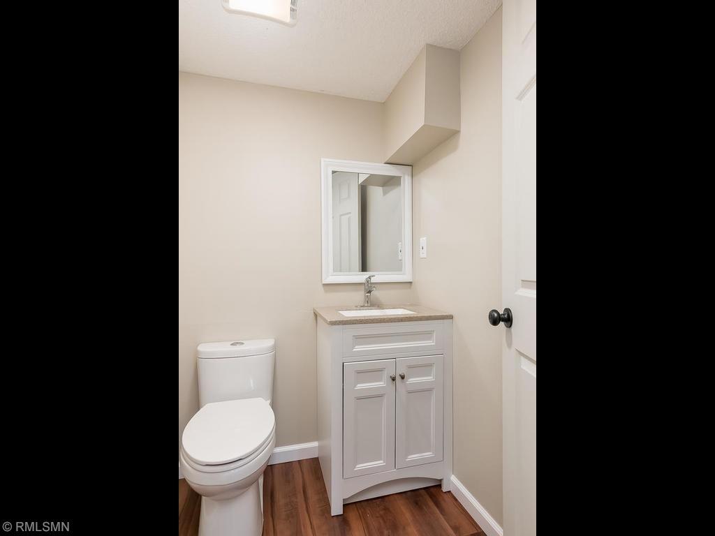 Remodeled half bath in lower level
