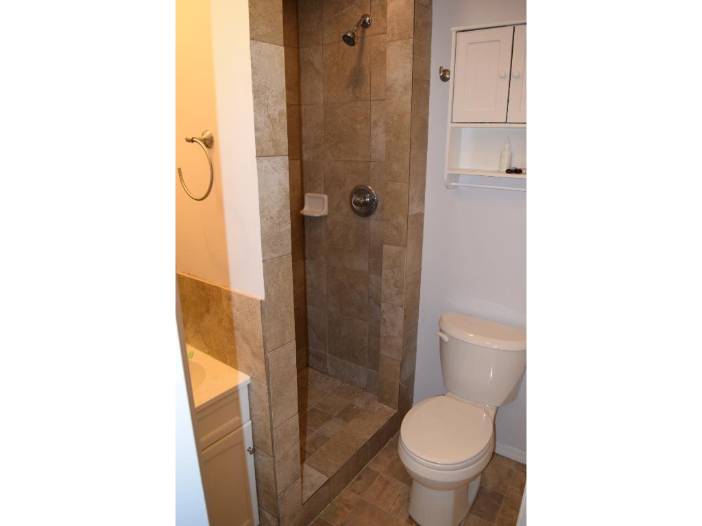 New 3/4 bath in lower level