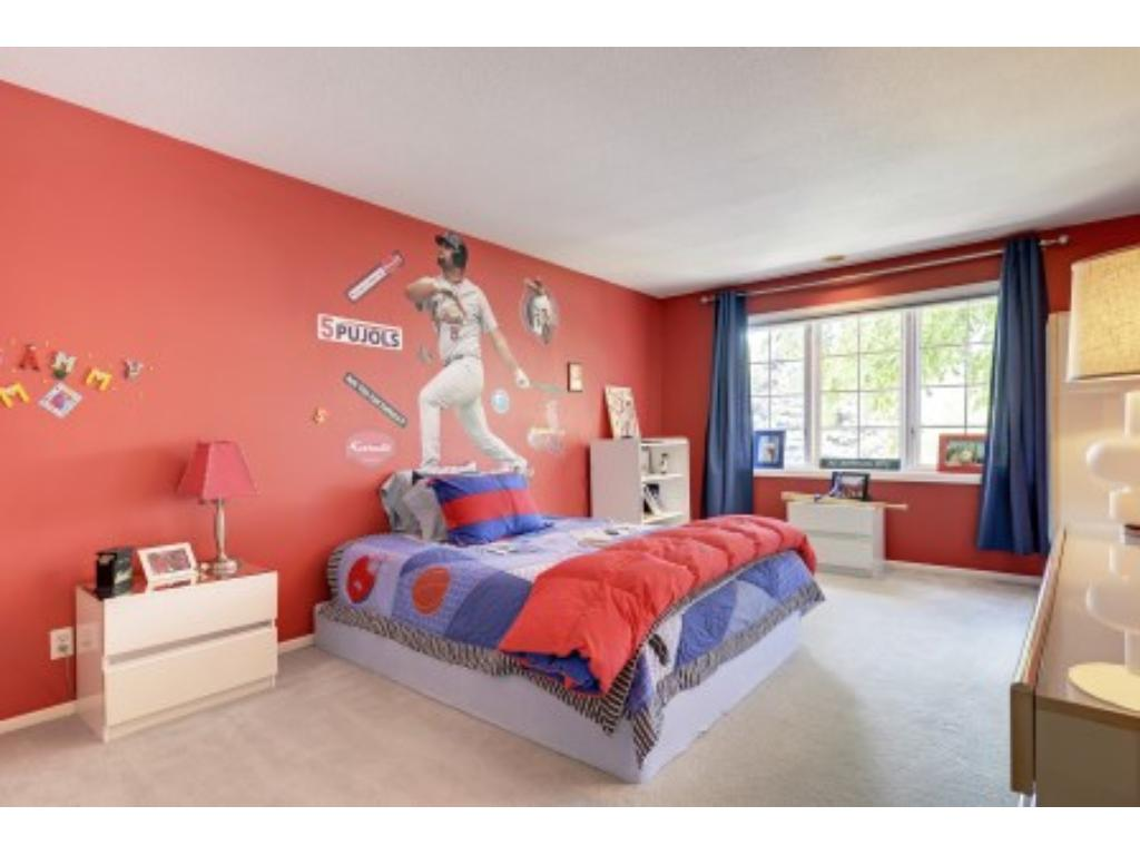 Bedroom on Upper Level with Walk-in-Closet.