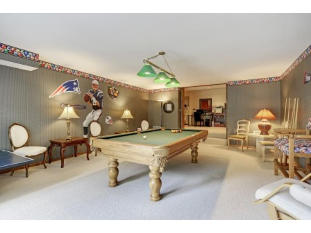 Game Room in Lower Level with Walkout to Patio.