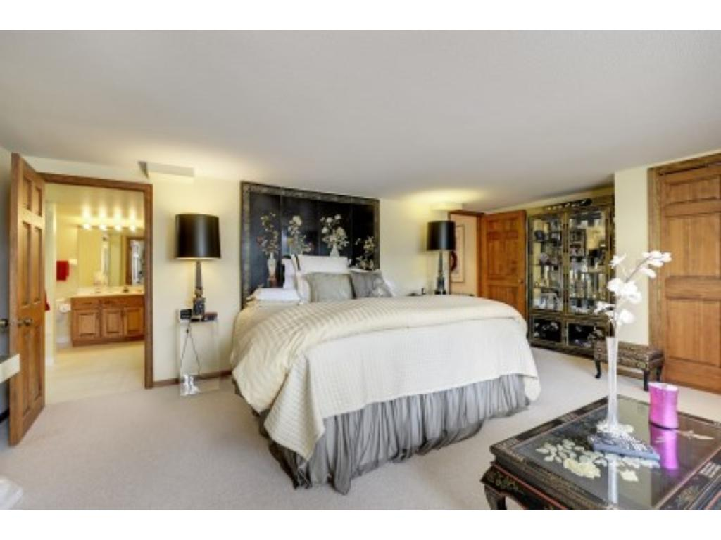 One of two Spacious Lower Level Bedroom Suites with Private 3/4 Baths.