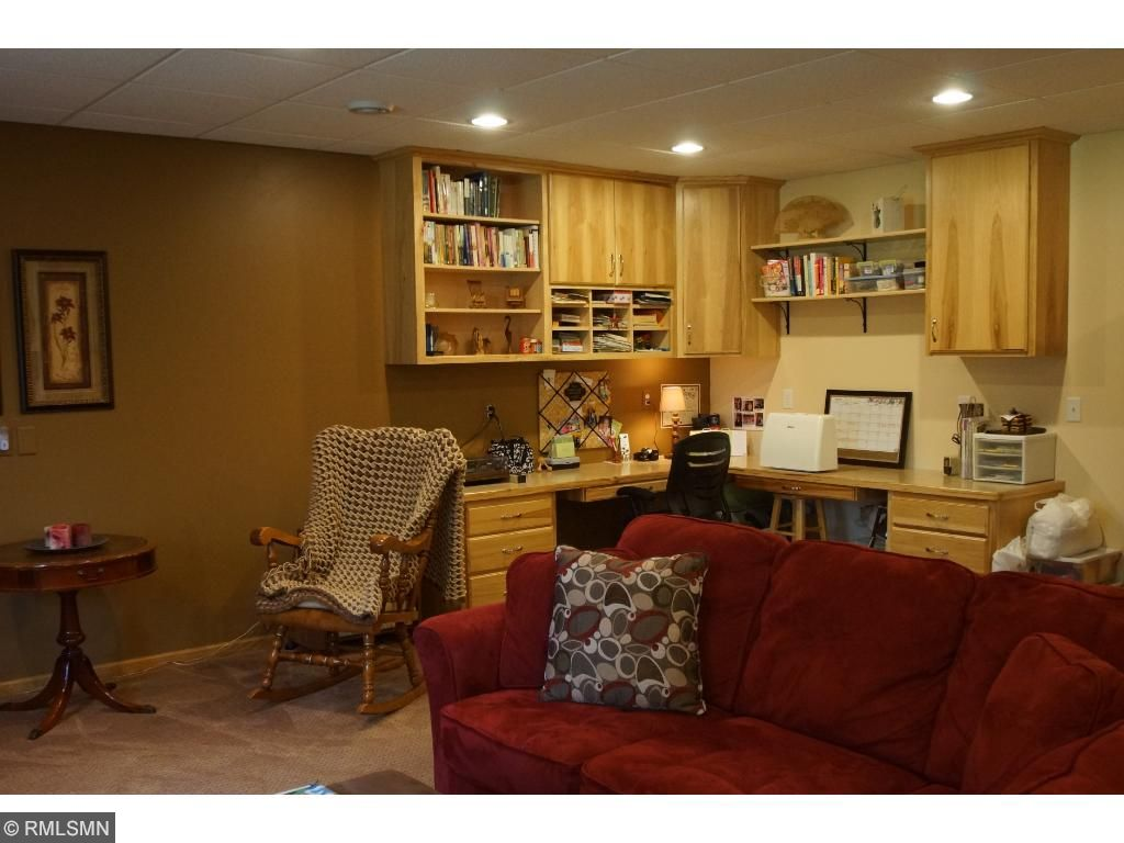 This is the built-in craft area or office space.