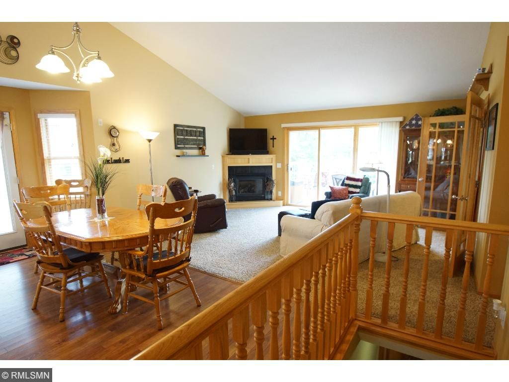 Notice all of the light flowing from the many windows.  You will also love the gas fireplace in the living room.