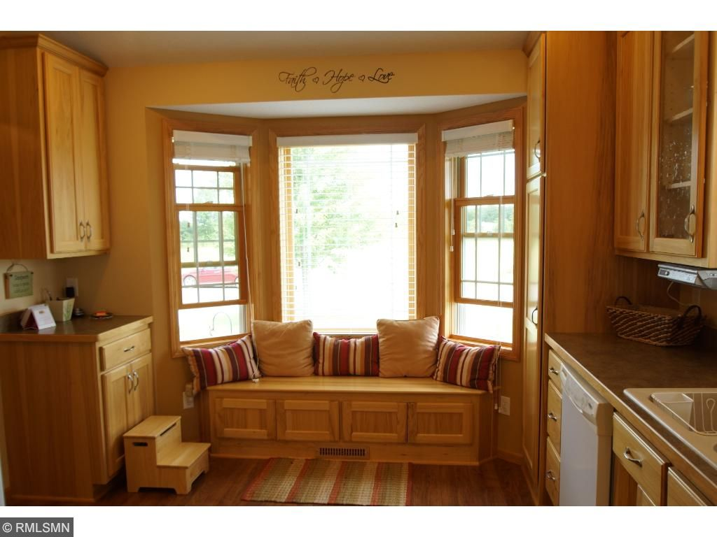 Who doesn't love a window seat?  This is a great place to read or enjoy the sunshine.